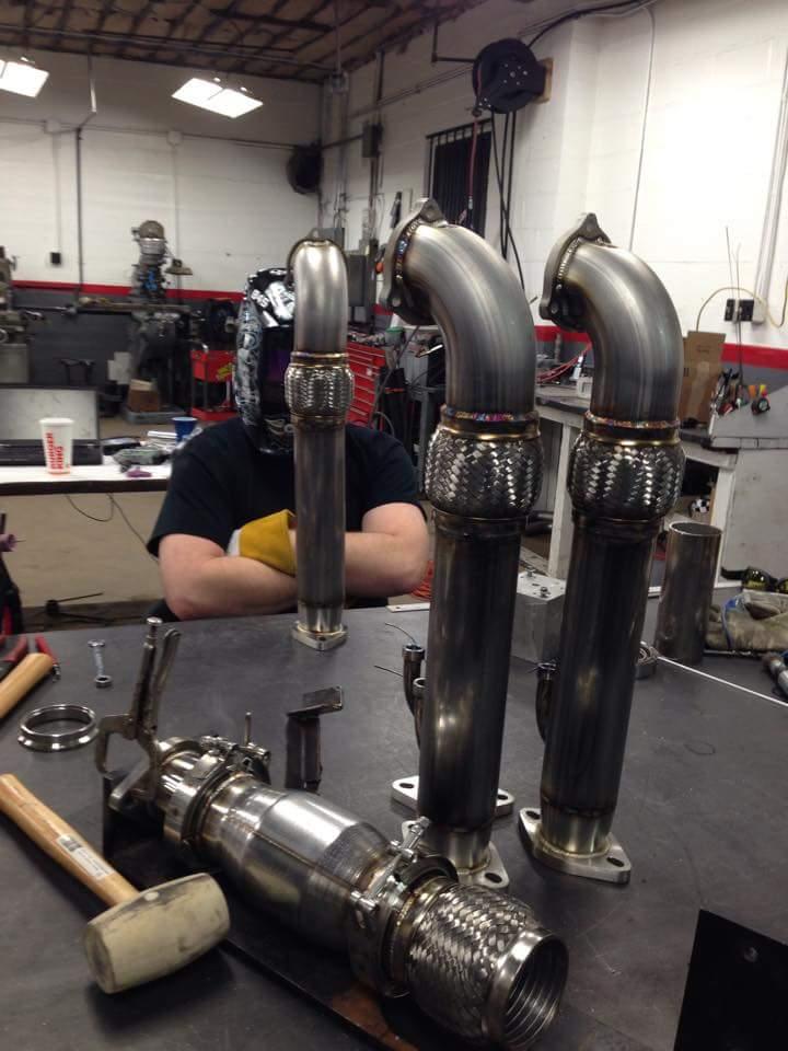 845 Motorsports 3″ Veloster turbo Downpipe | 845 Motorsports